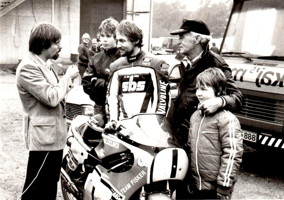 TV-Sporten var på pletten til DM afslutningen og Klaus Hansen lavede et interview med Fisker familien. Fra venstre Joel, Chris, Erhardt og Jarno.