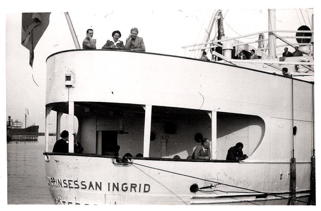 Harry Pedersen ses th på færgen