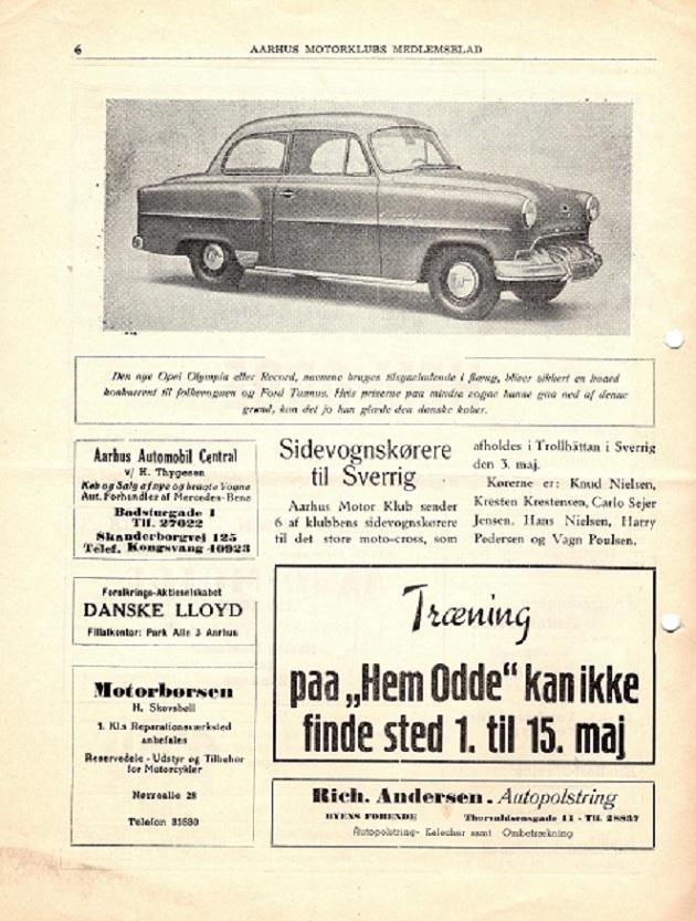 Klubblad 1953 med foromtale af turen