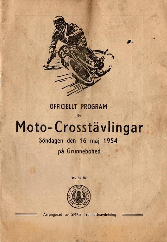 Programforside 1954