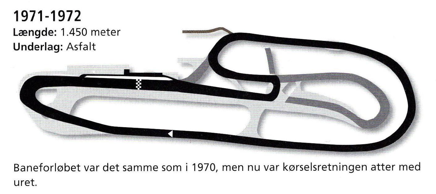 På dette baneforløb blev der kørt i 1971-72. (Alstrups bog).