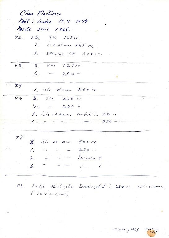 J.E. Krause-Kjær havde lavet denne research på Mortimer.