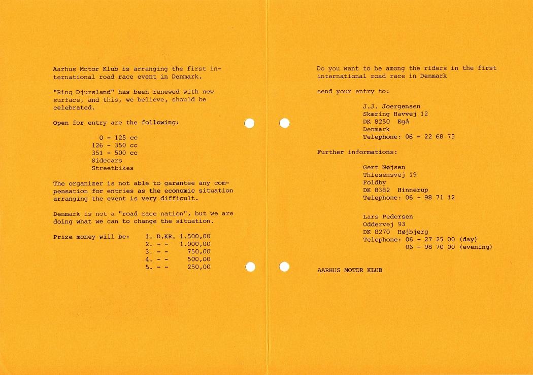 Engelsksproget promoveringsflier, som først og fremmest Thomas kunne bruge til omdeling.  img2