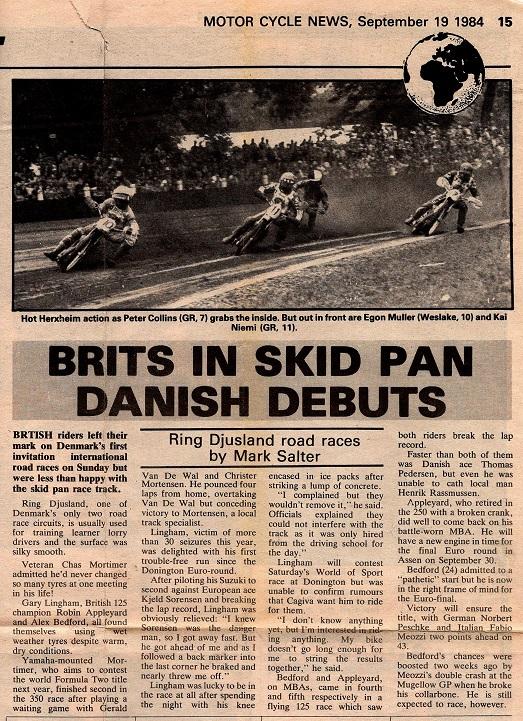 Vi var stolte af at få stævnet omtalt i selve Motor Cycle News.