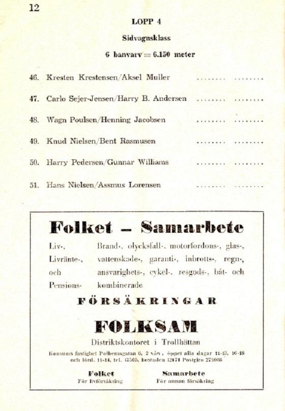 Deltagerliste 1953