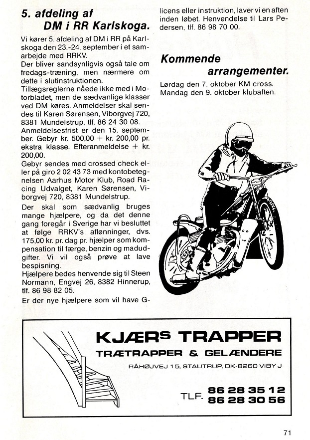 1989-09 Klub Karlskoga foromtale