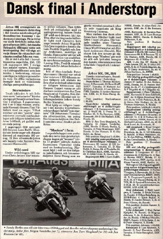 1993 Race AMK DM slut Anderstorp