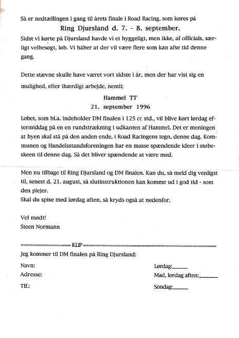 Skrivelse til officials