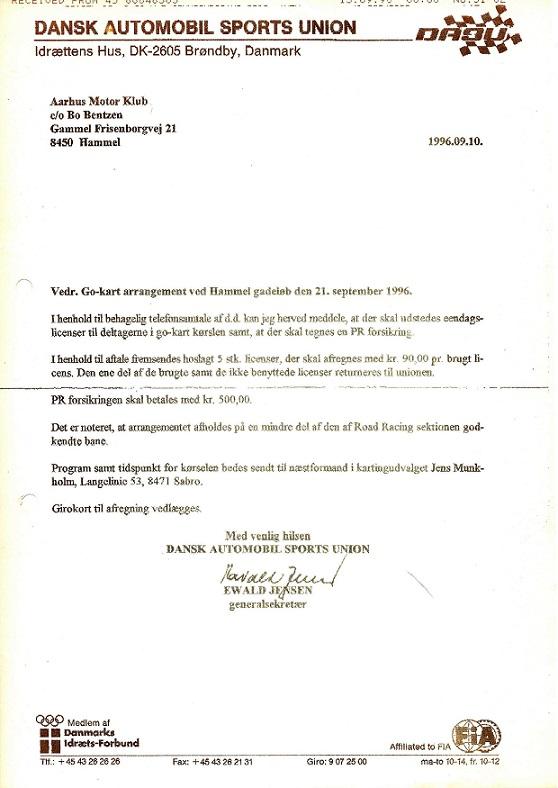 """DASU blev også impliceret, da de skulle give tilladelse til """"Borgmester-Cup"""" i go-kart."""