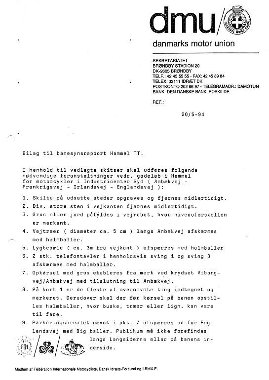 Banesynsrapport skulle udstedes af DMU, bemærk at den faktisk blev lavet i 1994, da det første forsøg på at køre blev gjort. Img2