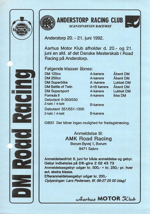 AMK reklamerede for Anderstorp på den ene side-