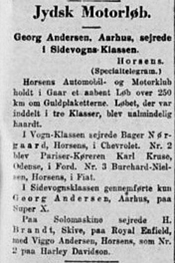Ny sejr på Super X, denne gang i sidevognsklassen. Stiften 1930-02-17