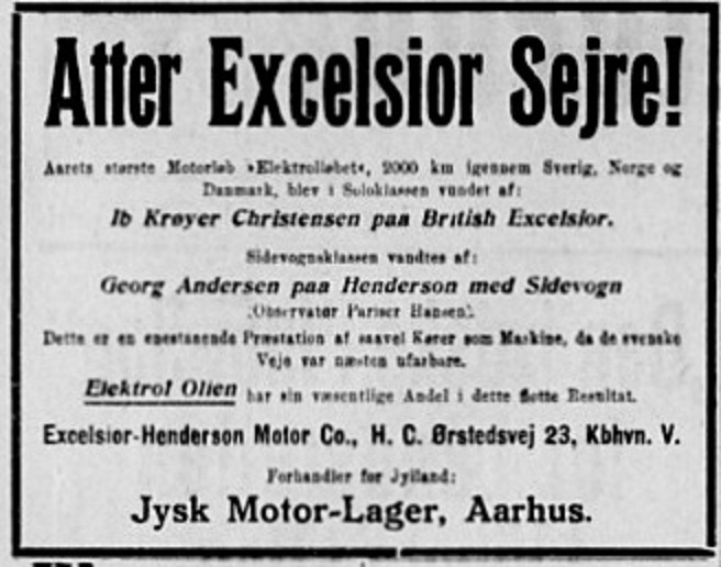 Efter løbet indrykkede Georg Andersen denne annonce i Stiften. 1931-04-09.