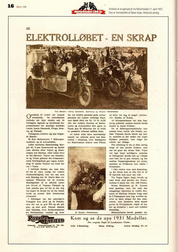 Motorbladets genoptryk af løbsreportagen img1.