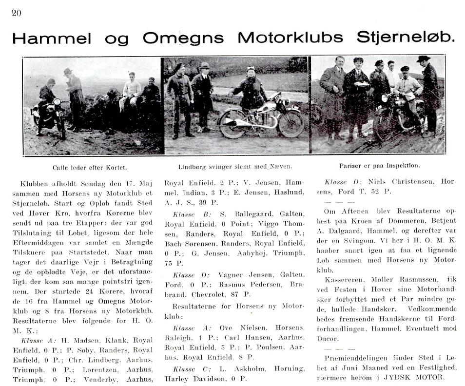 Lindberg i Jydsk Motor 29-05-1931.