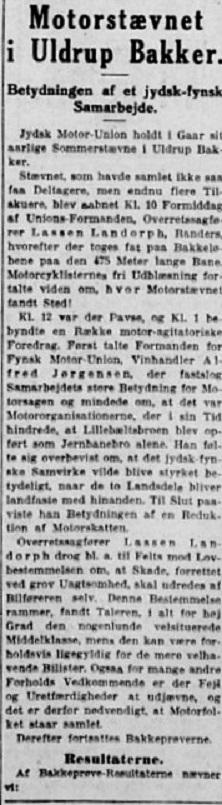 Omtale af bakkeløbet. 1933-07-31 Stiften img1