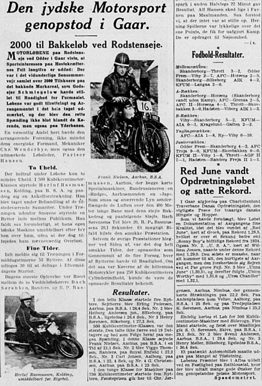 Stiftens artikel fra Rodstenseje, hvor Chr. Jørgensen vandt den store klasse.