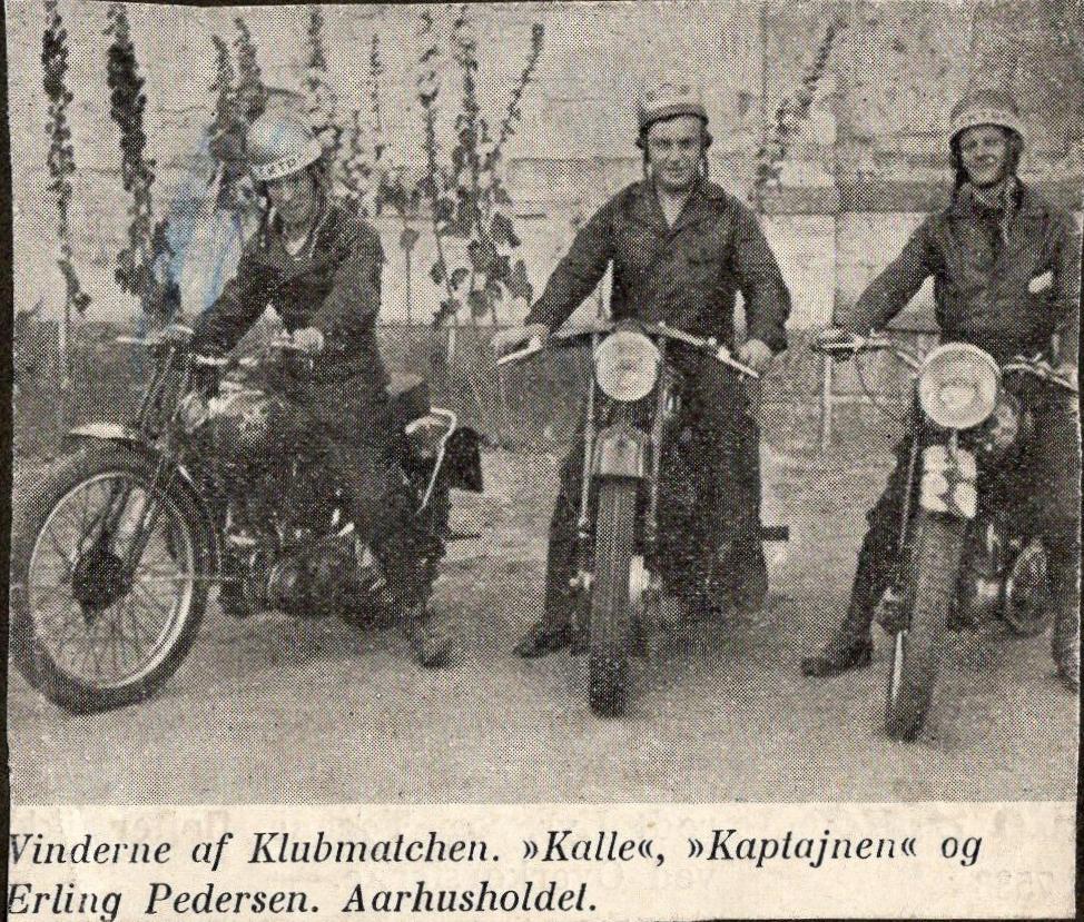 Rathlousdal aug. 1938. Calle indgik på det sejrende Aarhus-hold.