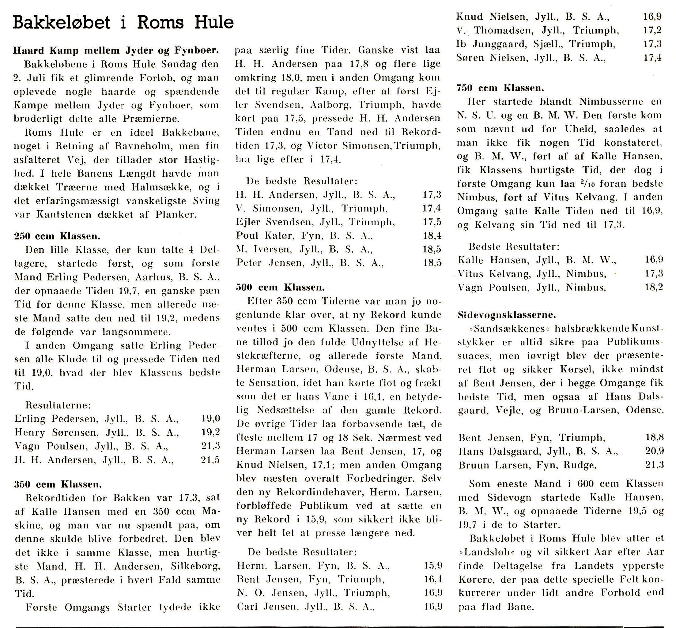 DMU bladets artikel fra dette løb. juli 39.