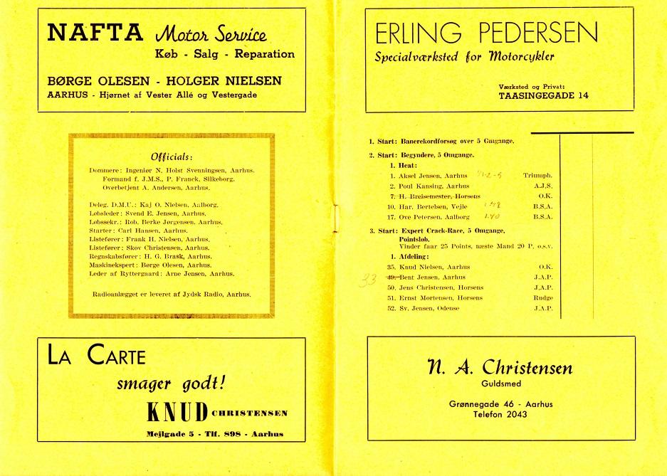 Annonce i Hem Odde program 1946.