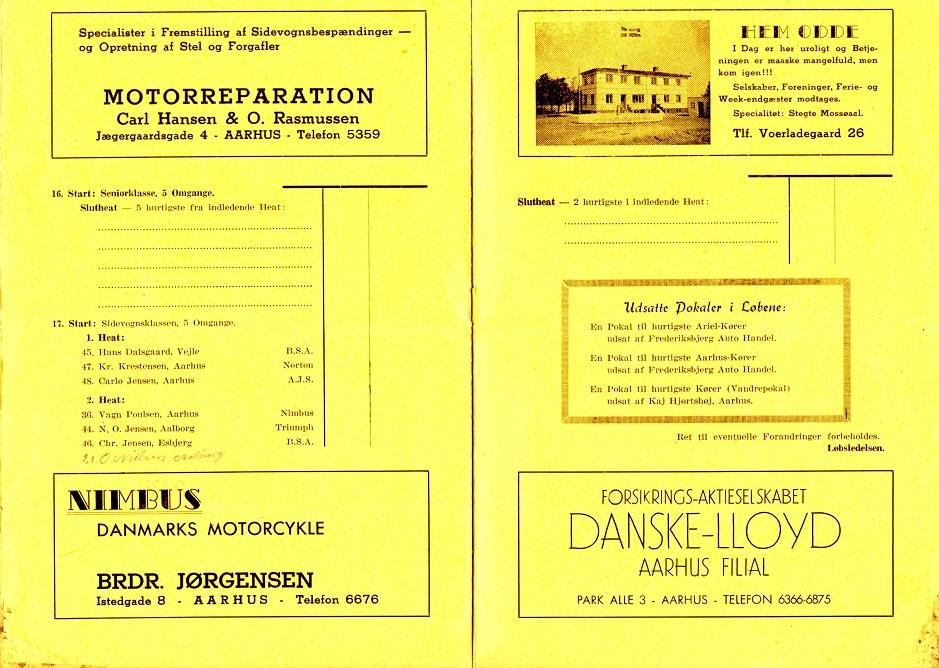 Program Hem Odde 1946