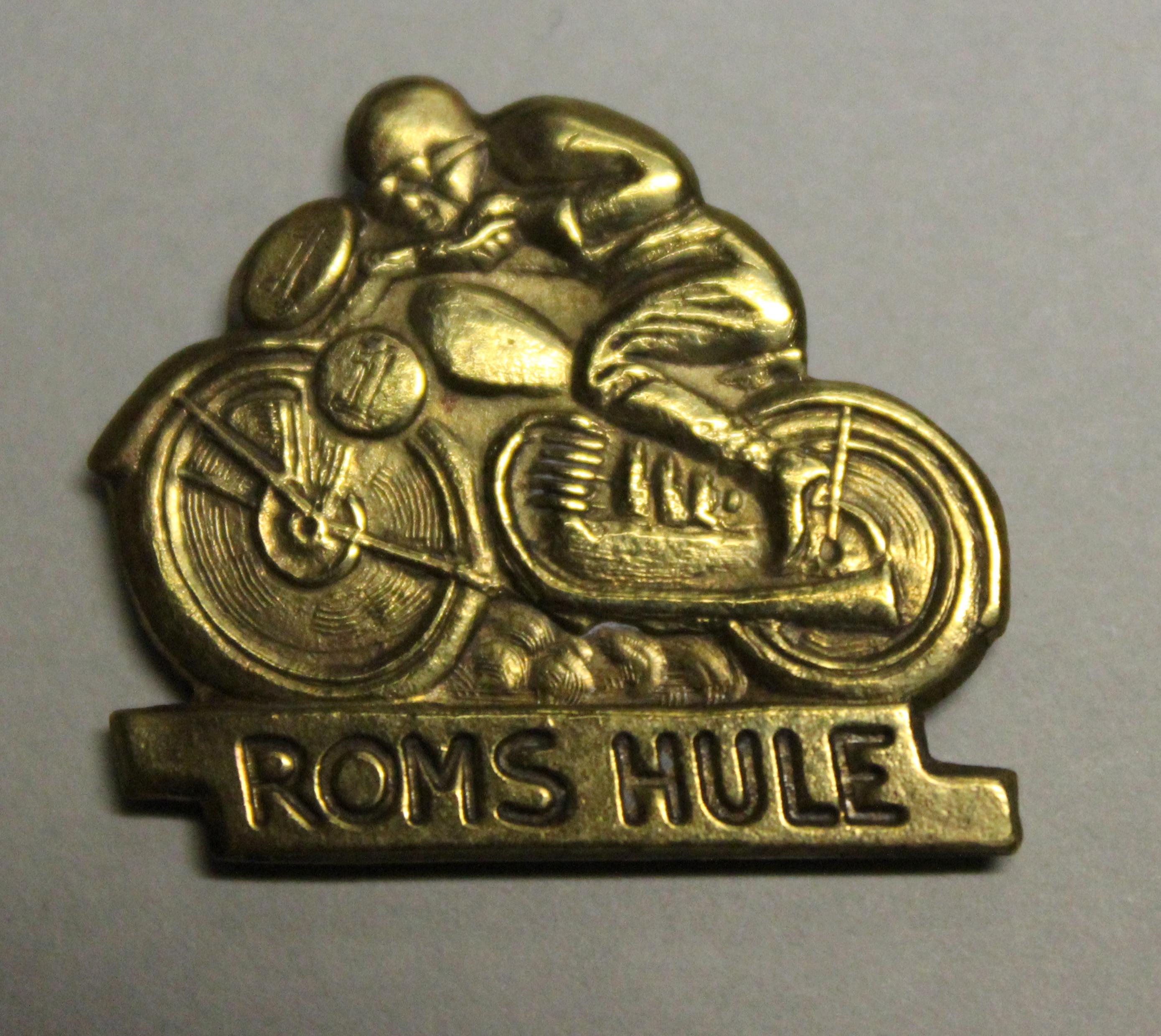 Roms Hule løbene var så stor en begivenhed, at man fik lavet dette jakkeemblem