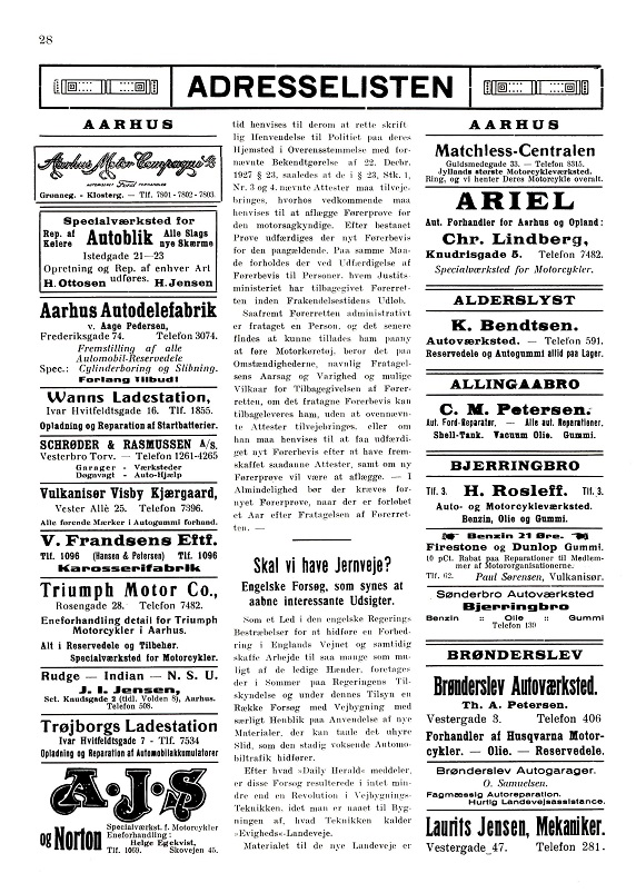 Annonce Jydsk Motor sept. 1931.