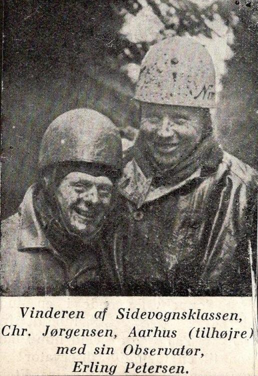 Det vindende par i Jydsk Grand Prix 1938.