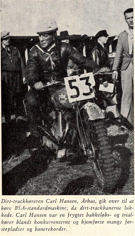 Katholm løbet. Calle her med sin BSA vandt 350cc klassen.
