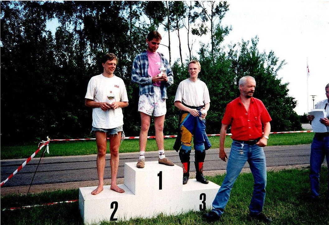 Vindertrioen. Søren 1, Arne Loklindt 2, Ulrik Hasager 3. Gert Nøjsen th.
