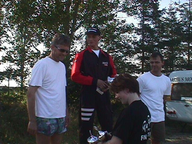 Kristian Kristensen vandt Standard 125cc foran Hugo Eskildsen og Claus Chris.