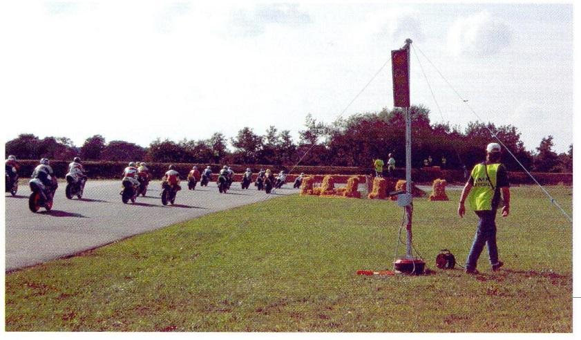 Starten i Superbike, som blev vundet af Jørgen Hållinder, Sverige.