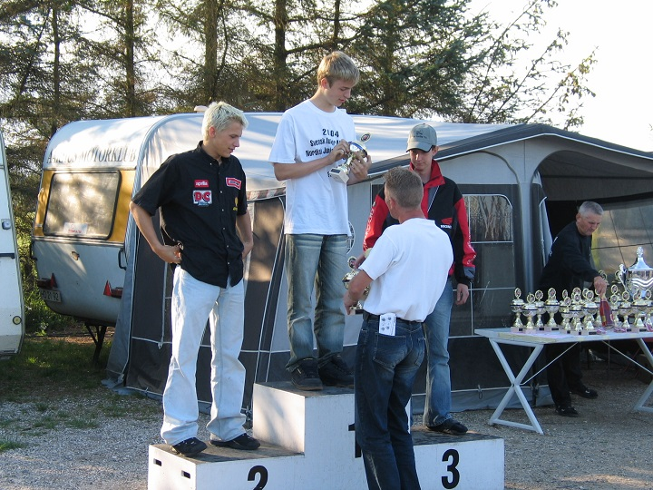 Søren Jacobsen vandt Stocksport 125cc foran Thomas Jørgensen og Frans Jacobsen
