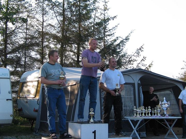 Thomas Nedergaard vandt Superbike foran Lars Pedersen tv og Michael Graversen