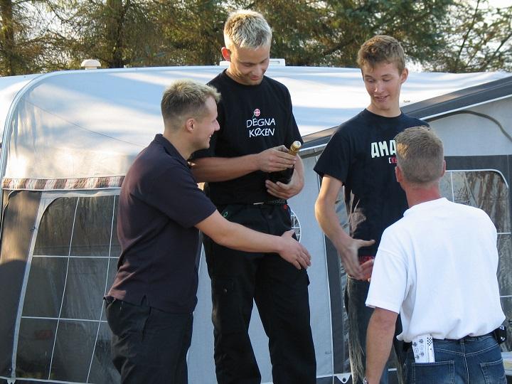 Anders Møller vandt 125cc Racer foran Henrik Nielsen tv og Kenny Tirsgaard