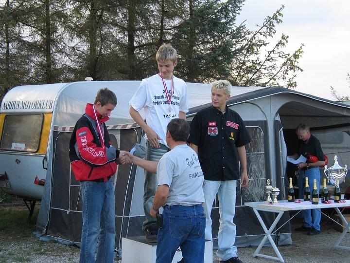 Søren Jacobsen vandt DM i Stocksport 125cc foran Frans Jacobsen og Thomas Jørgensen