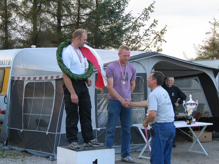 Michael Graversen vandt DM Superbike foran Lars Kim Jensen og th Thomas Nedergaard.