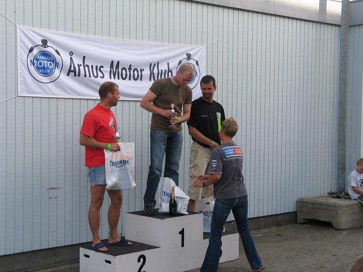 Rookie II. Carsten Lund vandt foran Flemming Jensen og Dennis Andersen.