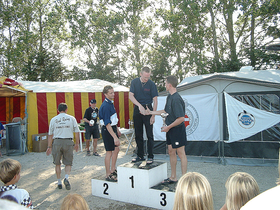 Ulrik vandt løbet løbet foran Ole Gram og Steven Tirsgaard img1