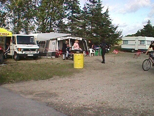 Teknisk kontrol havde hovedkvarter i dette telt.