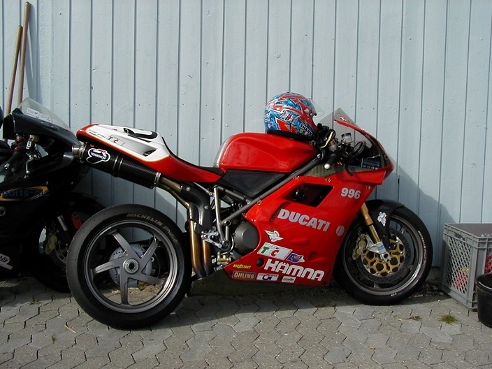 Brian Glad kørte Ducati i Rookie II.