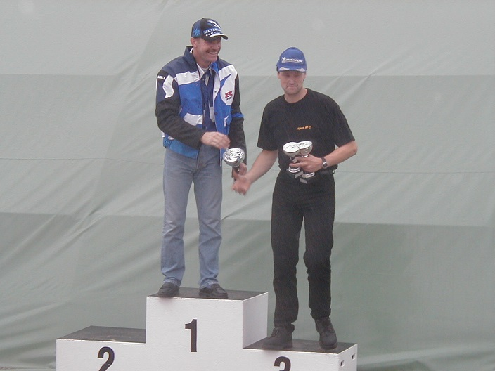 Kim Philip vandt Superbike. Lars Rulffs nr. 3.