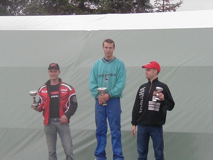 Ronnie Ourø vandt 250cc Racer foran Michael Selmar tv og Nicolai Sørensen