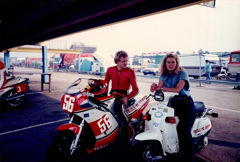 Anderstorp 30/31. aug. 85. Chris og Kathrine Kroon