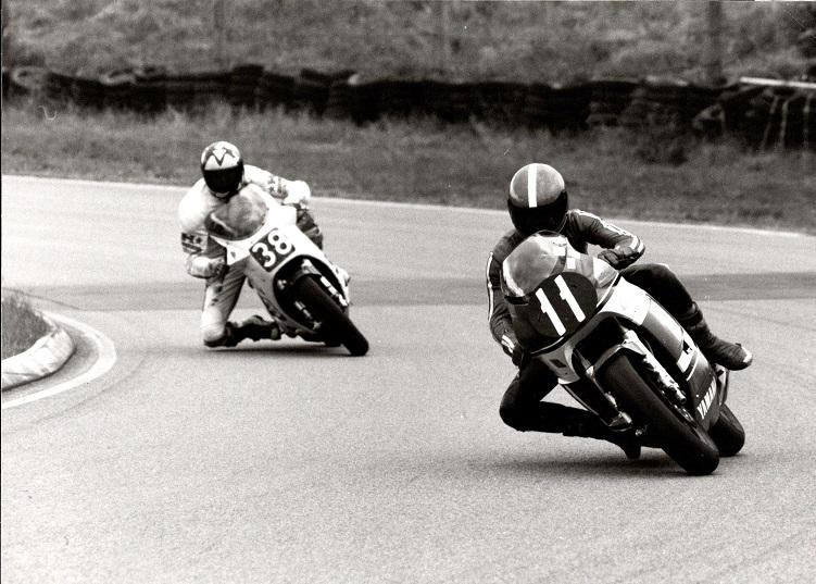 Mantorp 21/22. sept 85. Chris fører foran den senere vinder.
