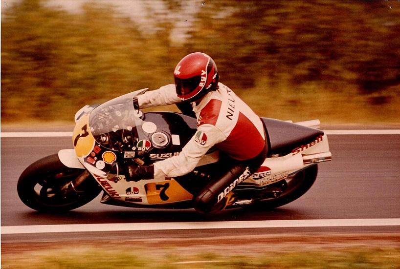 Chris arbejdede en del som mekaniker for Børge W. Nielsen. Her Nielsen omkring 1985.