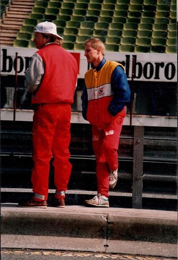 EM Jarama marts 89. Tv Peter Lindéns mekaniker Jørgen Johanson