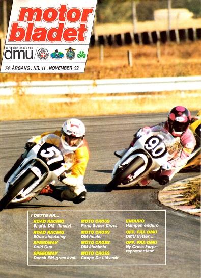 Chris på forsiden af Motorbladet nov. 92