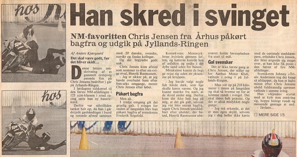 Presseomtale fra NM Jyllands-Ringen 1993, hvor fotografen fik en billedserie i kassen