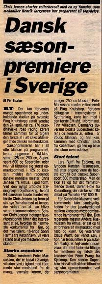 Per Fischer omtalte Chris skifte til Yamaha i BT. Her Chris med mekaniker Henrik Jørgensen. Img2